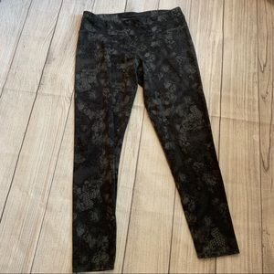 Large Calvin Klein Dark Snakeskin Leggings